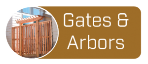 button link to a gallery of arbors, gates and more